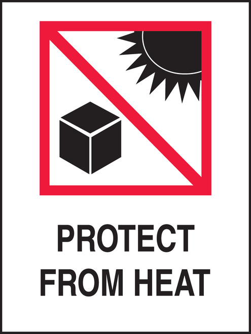Protect From Heat Shipping Labels