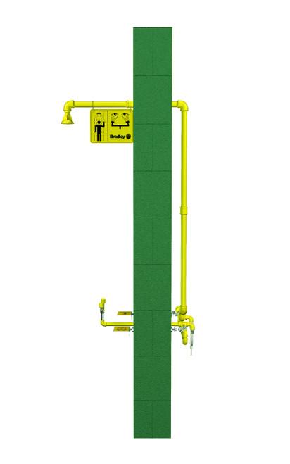 Bradley S19-310TW12 Frost Proof Wall Mount Emergency Shower Eyewash