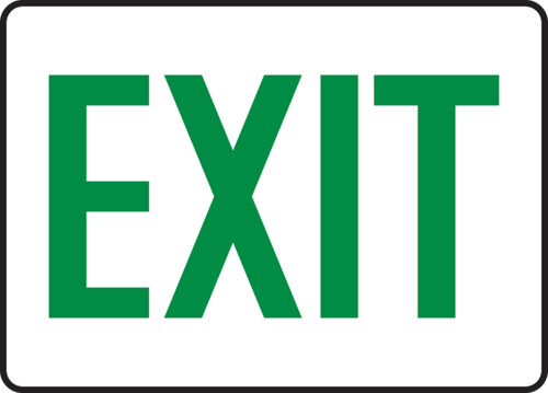Exit - Adhesive Vinyl - 7'' X 10''