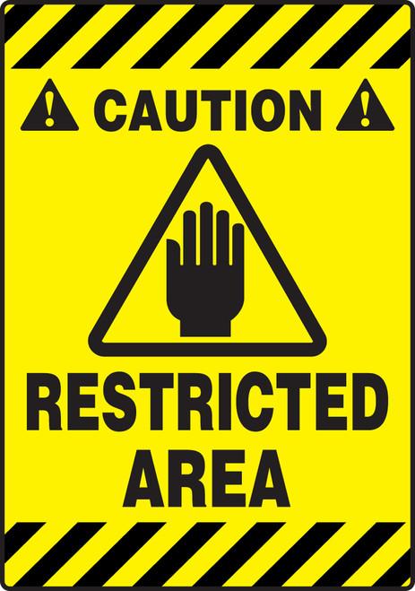 Caution Restricted Area Sign Slip Gard Border Floor Sign