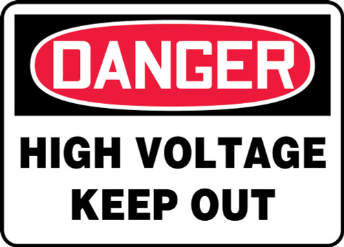 Danger - High Voltage Keep Out - Plastic - 24'' X 36''