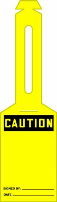 Caution Blank Loop Safety Tag