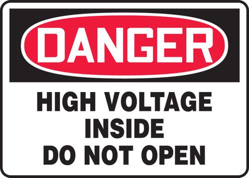 Danger - High Voltage Inside Do Not Open