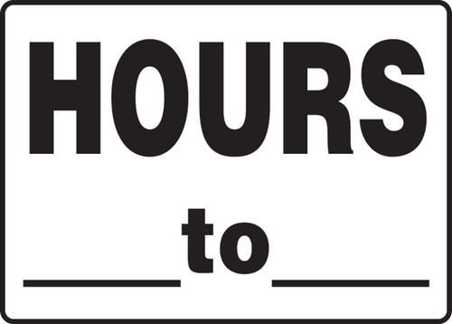 Hours  ? To  ?  Sign