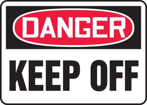 Danger - Keep Off - Adhesive Dura-Vinyl - 10'' X 14''