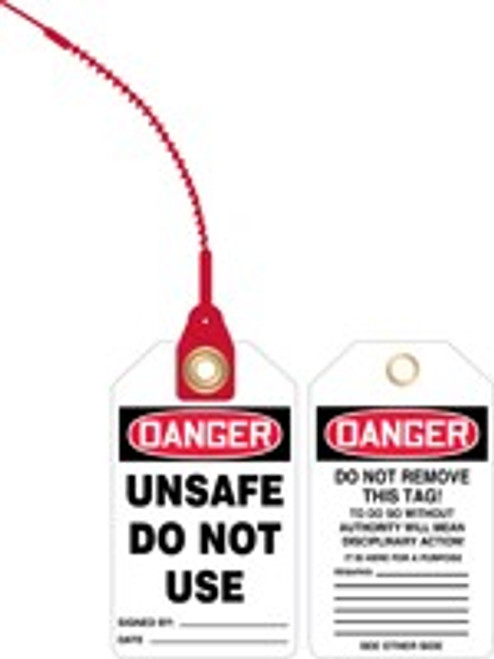 Danger Unsafe Do Not Use Loop n Lock Safety Tag
