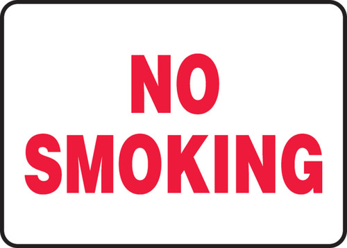 "No Smoking (Rd/Wh) - Adhesive Vinyl - 10"" X 14"""