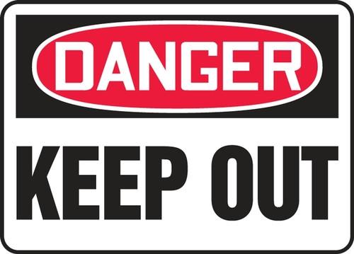 Danger - Keep Out - Adhesive Dura-Vinyl - 10'' X 14'' 1