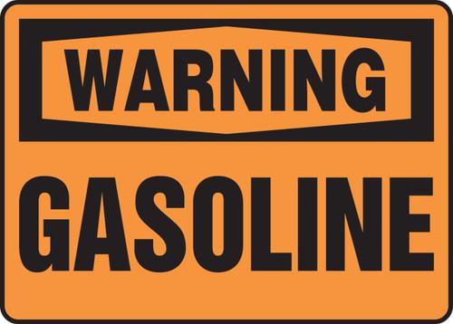 Warning - Gasoline