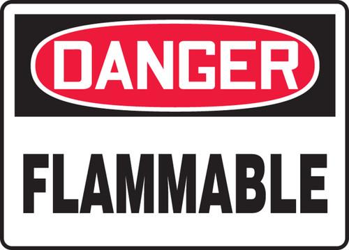 Danger - Flammable - .040 Aluminum - 10'' X 14''