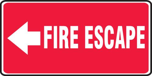 Fire Escape Sign Arrow Left