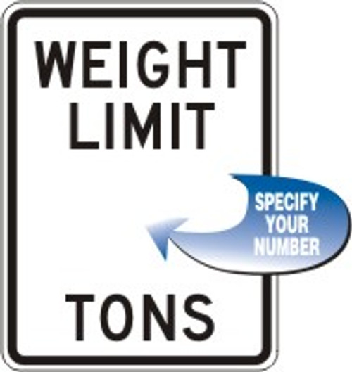 """Weight Limit ___ Tons- 24"""" x 18"""""""