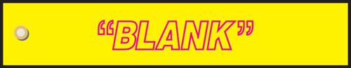 Blank Yellow Sign- Radiation Slide Sign Insert