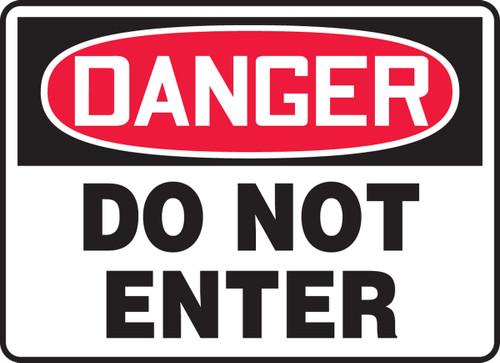 Danger - Do Not Enter - Adhesive Dura-Vinyl - 18'' X 24''