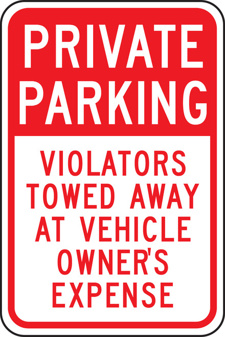 Private Parking Violators Towed Away At Vehicle Owner''s Expense