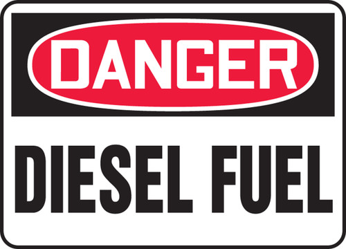 Danger - Diesel Fuel - Adhesive Dura-Vinyl - 14'' X 20''