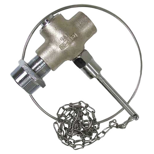 """Speakman Self-Closing Valve, 1"""" Female Inlet, 1-1/2"""" Outlet, Includes Chain and Pull Ring"""