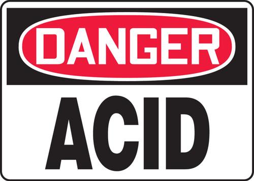 Danger - Acid - Dura-Plastic - 7'' X 10''