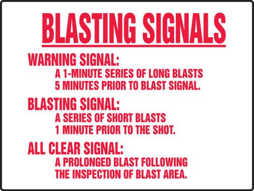 Blasting Signals Warning Signal Sign