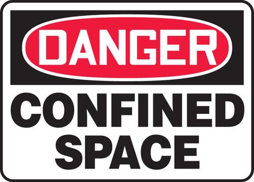 Danger - Confined Space - Plastic - 10'' X 14''