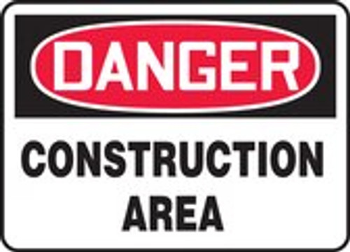 Danger - Construction Area - Aluma-Lite - 10'' X 14''