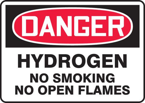 Danger - Hydrogen No Smoking No Open Flames