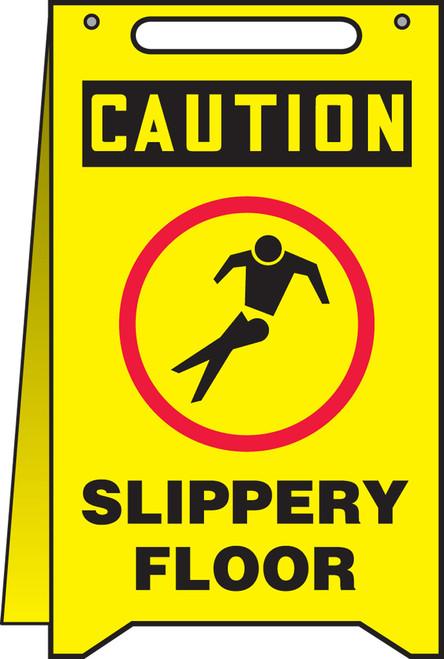 Caution Slippery Floor W/graphic Floor Sign