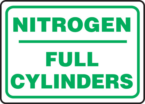 Nitrogen Full Cylinders - Dura-Plastic - 10'' X 14''