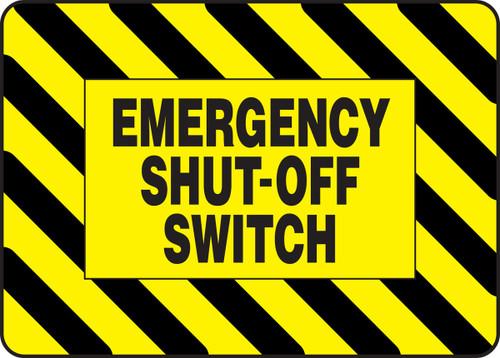 Emergency Shut Off Switch - .040 Aluminum - 7'' X 10''