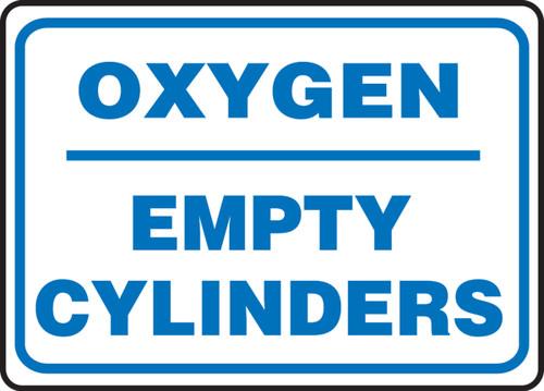 Oxygen Empty Cylinders - Adhesive Vinyl - 10'' X 14''
