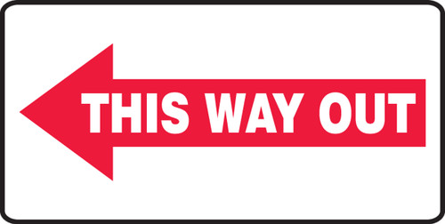 This Way Out Sign Arrow Left