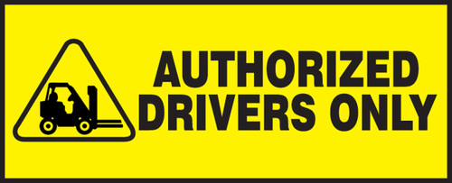 Authorized Drivers Only (w/graphic)
