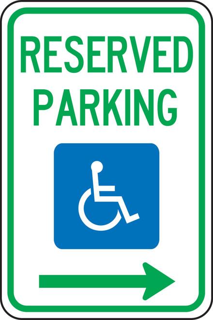 Handicap Reserved Parking Sign 1