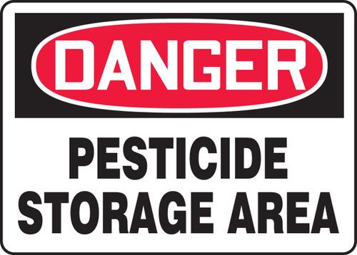 Danger - Pesticide Storage Area - Adhesive Vinyl - 7'' X 10''