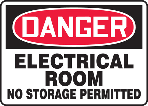 Danger - Electrical Room No Storage Permitted