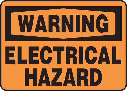 Warning - Electrical Hazard - Adhesive Dura-Vinyl - 14'' X 20''