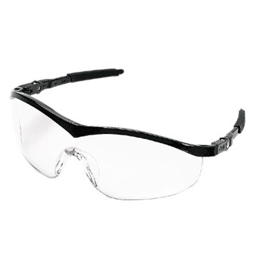 Crews Storm Safety Glasses - Black Frame/ Clear Lens (12 Pair)
