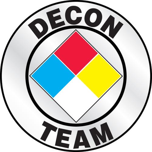 Decon Team Emergency Response Helmet Sticker