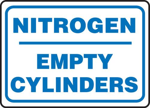 Nitrogen Empty Cylinders - Adhesive Dura-Vinyl - 10'' X 14''