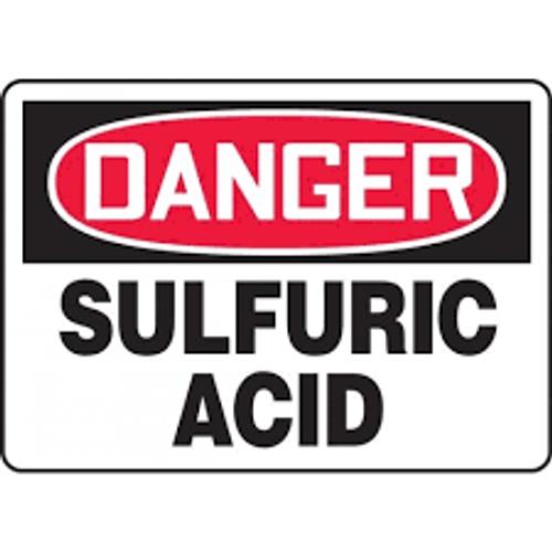 Danger - Sulfuric Acid - Adhesive Dura-Vinyl - 10'' X 14''