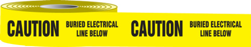 Caution Buried Electrical Line Below Barricade Tape