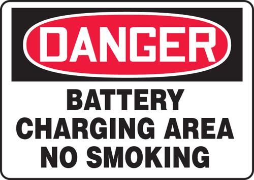 Danger - Battery Charging Area No Smoking