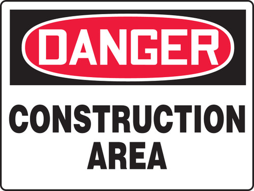 Danger Construction Area Sign MCRT100XV