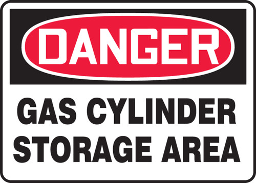 Danger - Gas Cylinder Storage Area