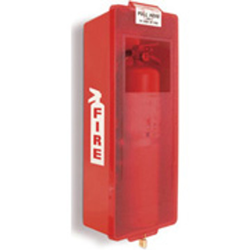 Fire Extinguisher Cabinet by Mark I Jr.- Red Plastic- Indoor/ Outdoor