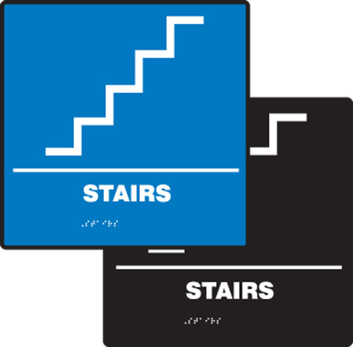 Stairs ADA Braille Tactile Sign