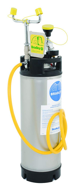 Bradley S19-672 Portable Eyewash Pressurized Eyewash 5 Gallon