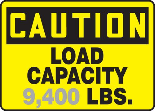 Caution - Load Capacity ___ Lbs. 1