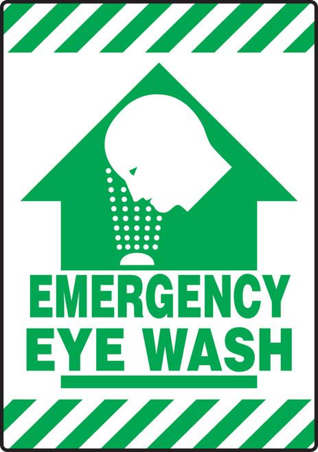Emergency Eye Wash Sign Slip Gard Border Floor Sign