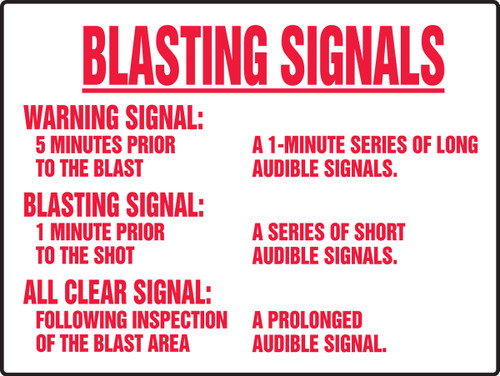 Blasting Signals Sign- Big Sign